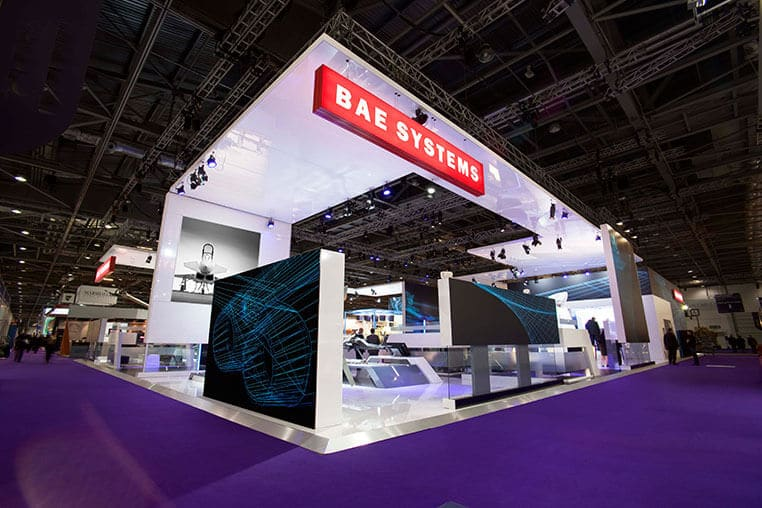 Exhibition Stand Designer Vacancy : Bae systems exhibition stand at dsei a rapiergroup design