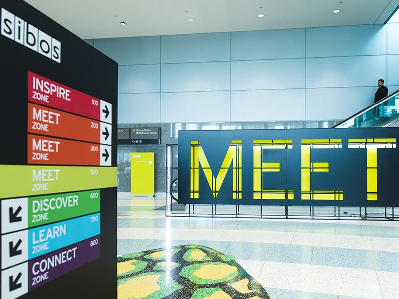 Sibos signage and wayfinding 2017
