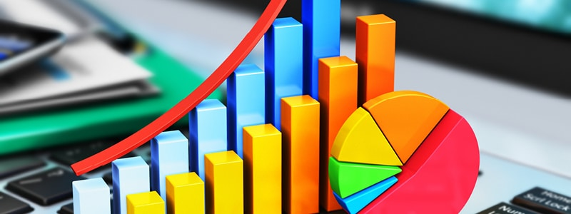 Representative Image of graphs - how to track the success of your exhibition stand