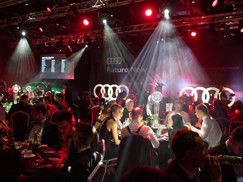 Audi graduation celebration