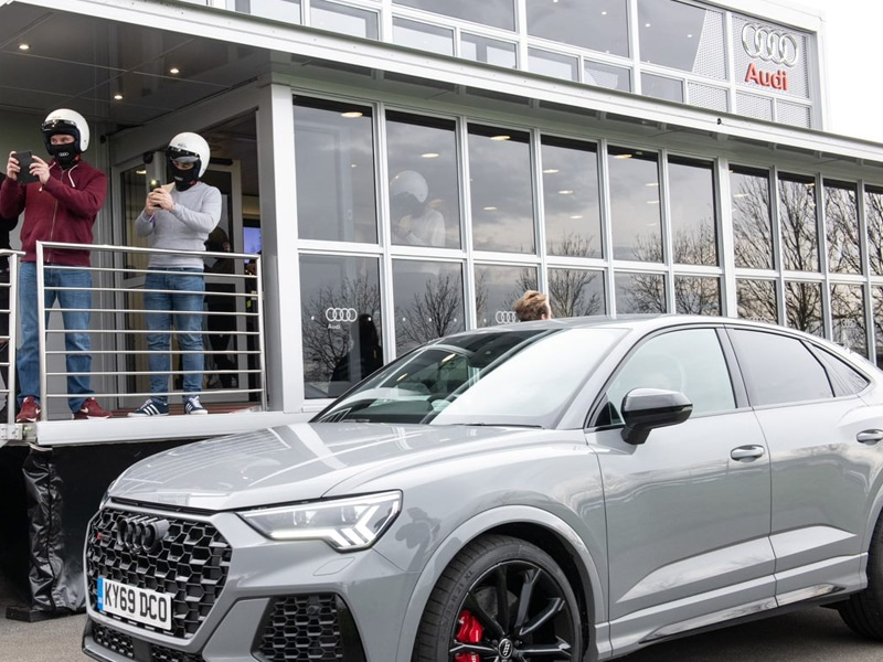 Silver Audi at Audi Track day
